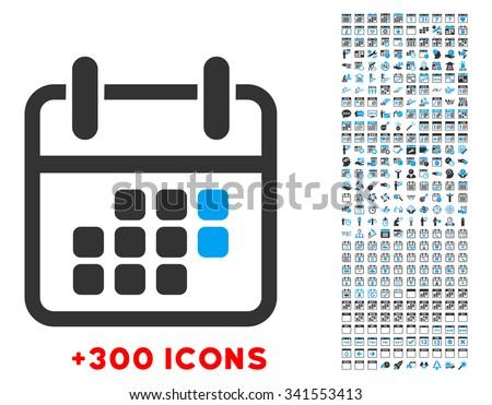 Calendar Icon / Calendar Icon Vector / Calendar Icon Picture / Calendar Icon Graphic / Flat Calendar Icon / Calendar Ico / Gray Calendar Icon / Calendar Icon Image / Calendar Icon with other 300 icons - stock vector