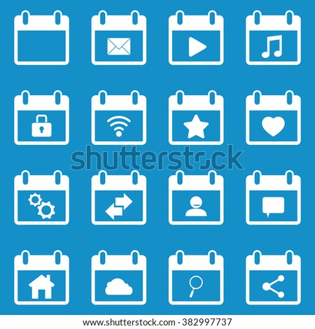 Calendar icon set . Vector illustration - stock vector