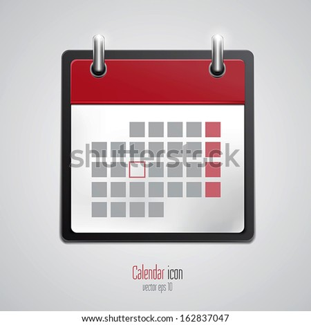 Calendar icon. Vector - stock vector