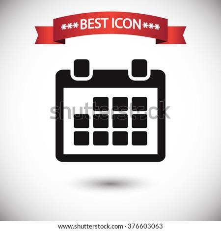 Calendar icon vector - stock vector