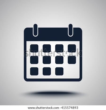 Calendar sign icon, vector illustration. Flat design style  - stock vector