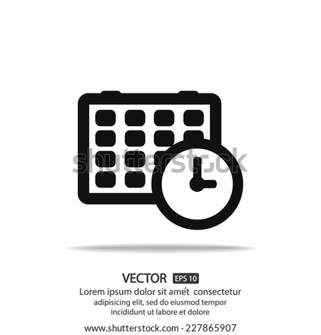 Calendar Vector icon - stock vector