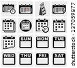 Calendar vector icons set. - stock vector