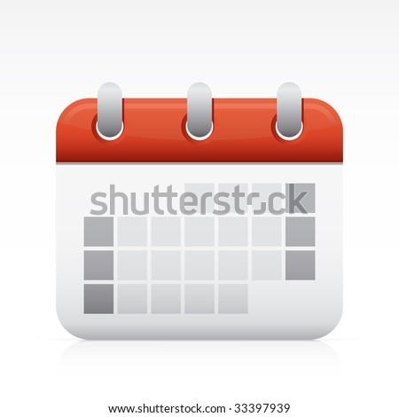 Calendar. Vector in Adobe Illustrator EPS for multiple applications. - stock vector