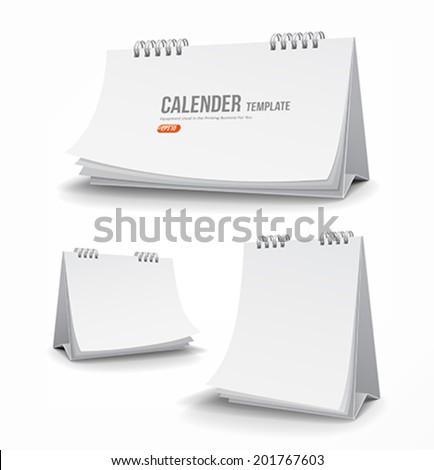 Calender template collections design background, vector illustration - stock vector