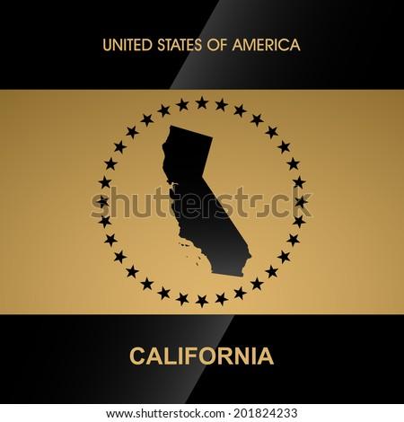California map vector background - stock vector