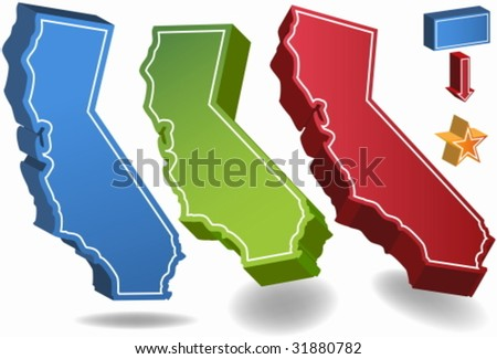 California Set - stock vector