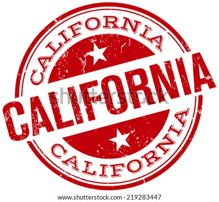 california stamp - stock vector
