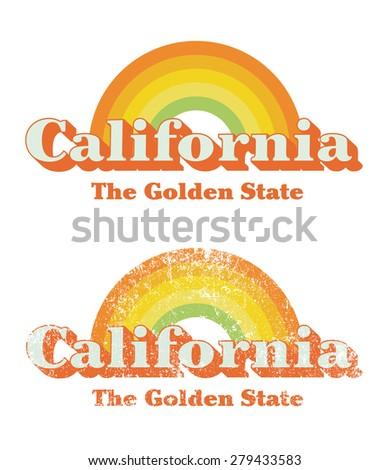 California vintage - stock vector