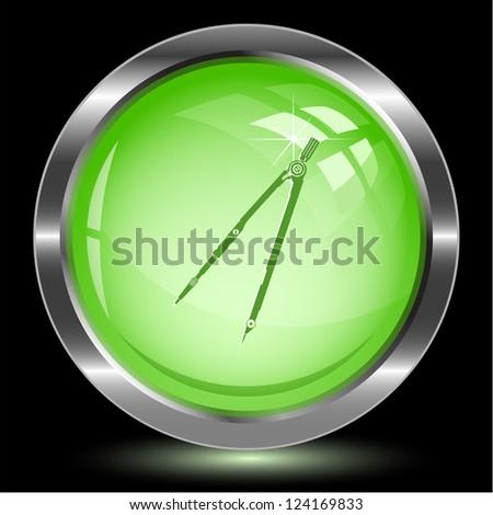 Caliper. Internet button. Vector illustration. - stock vector