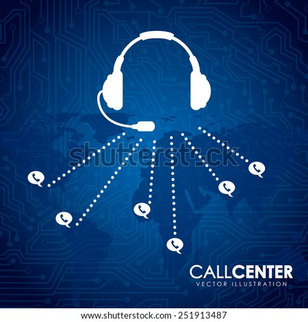 call center design, vector illustration eps10 graphic  - stock vector