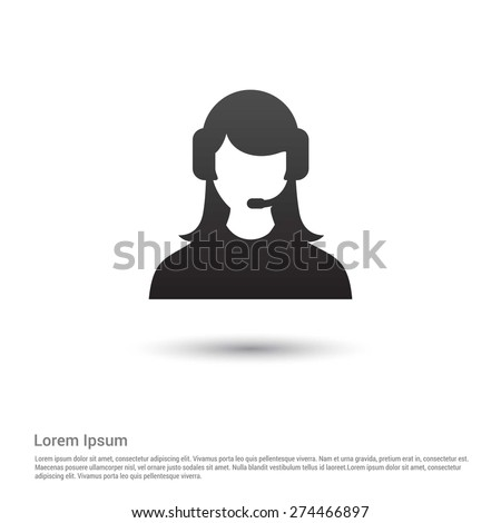 call center operator icon - stock vector