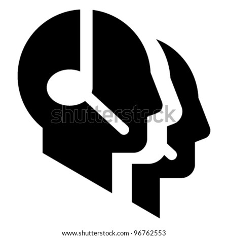 Call center vector icon - stock vector