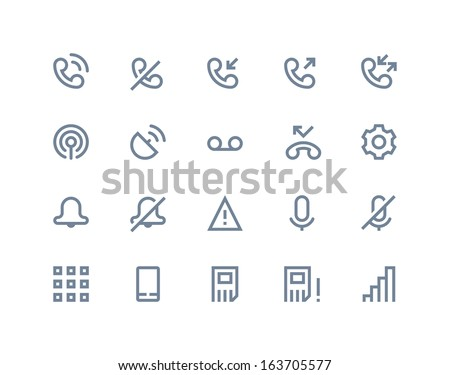Call logs icons. Line series - stock vector