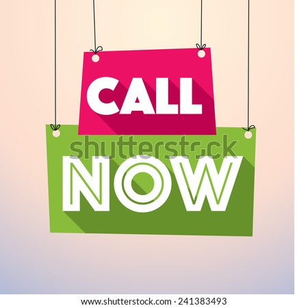 Call now label vector drop down tag- eps10 - stock vector