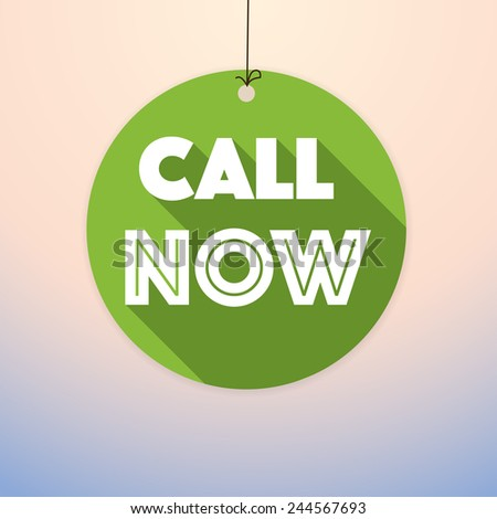 CALL NOW -label vector drop down tag- eps10 - stock vector