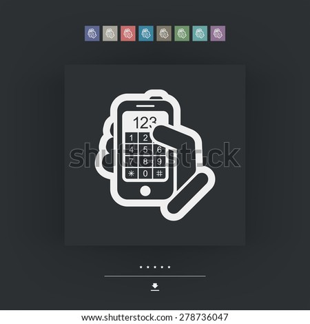 Call phone icon - stock vector
