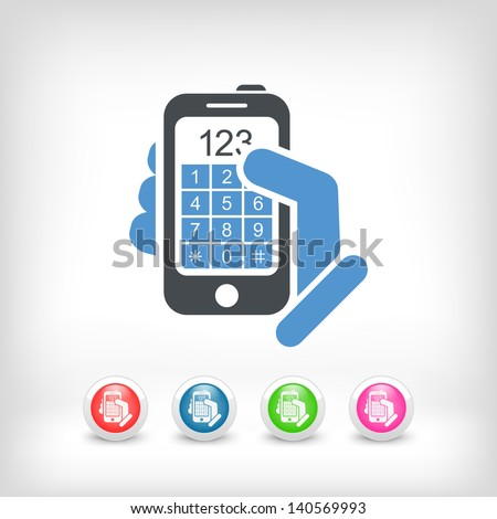 Call phone icon concept - stock vector