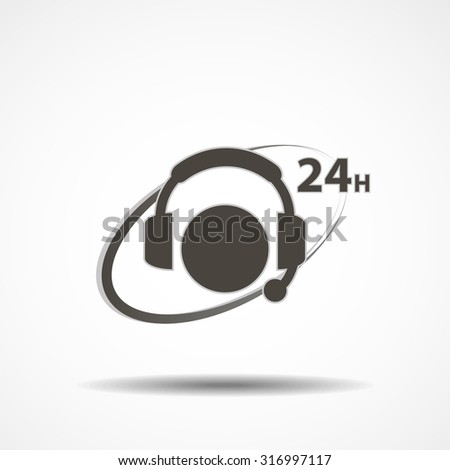 Call us icon concept logo in grey color sign - stock vector
