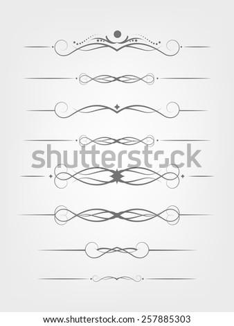 Calligraphic decorative elements. - stock vector