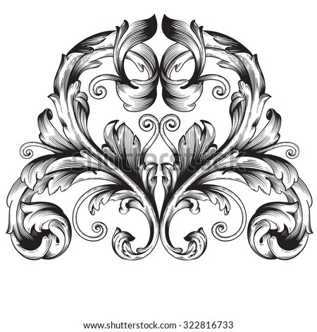 Calligraphic design elements: page decoration, Premium Quality and Satisfaction Guarantee Label, antique and baroque frames. Black and wight graphic style, Bohemian | heraldry  - stock vector