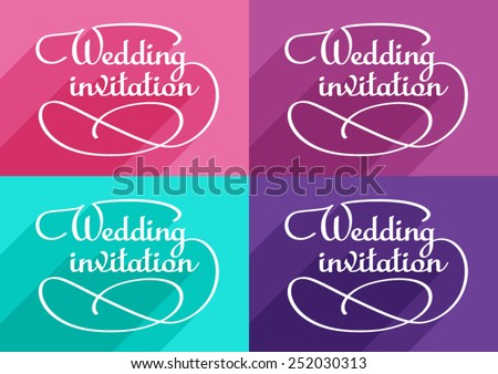 Calligraphic Inscription and Frame for Wedding Invitations card.  - stock vector