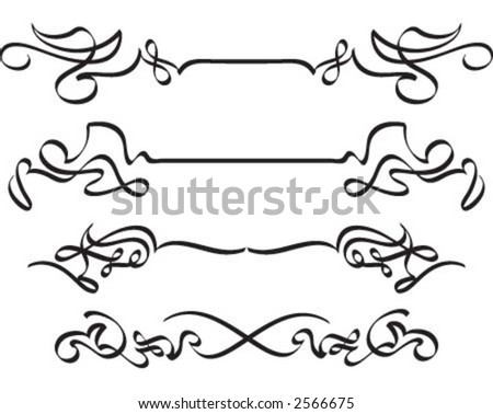 Calligraphic lines - stock vector