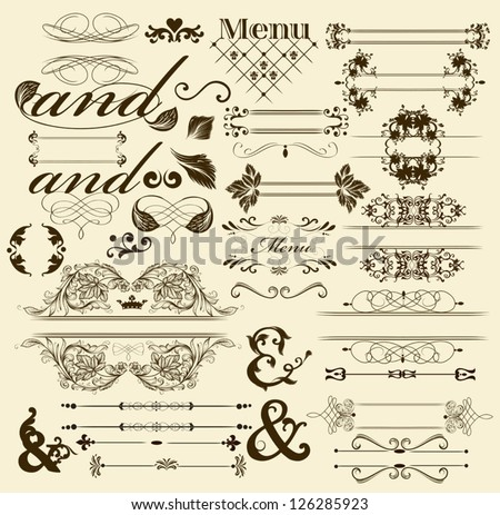 Calligraphic vector - stock vector