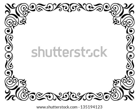 Simple Calligraphy Border Designs Calligraphy penmanship curly