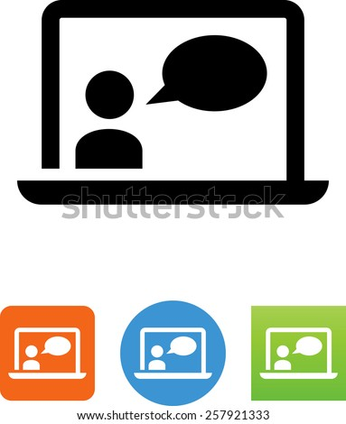 Calling app symbol for download. Vector icons for video, mobile apps, Web sites and print projects.  - stock vector