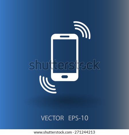 calling icon - stock vector