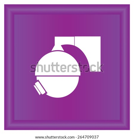 camcorder icon, vector illustration. Flat design style - stock vector