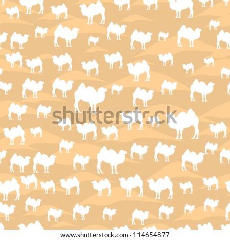 Camel pattern - stock vector