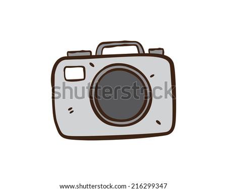 camera cartoon - stock vector