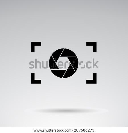Camera - creative  VECTOR design. - stock vector