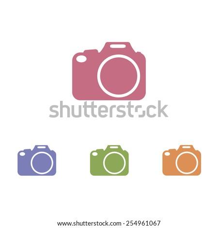 Camera DSLR icons - stock vector