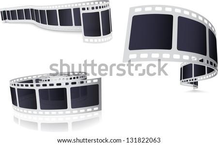 Camera Film Roll Set - stock vector