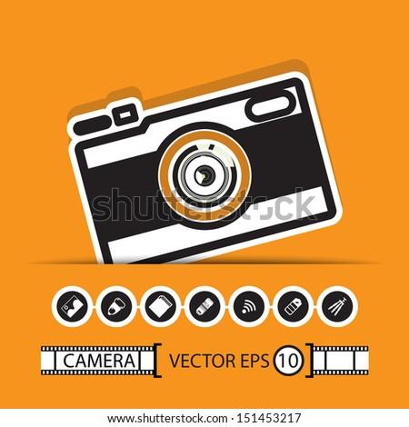 camera gadget set ,Illustration eps 10 - stock vector