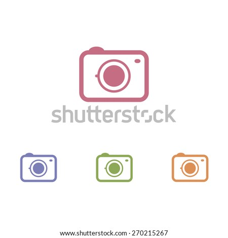 Camera icon - stock vector