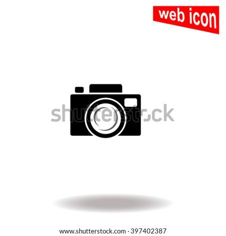 Camera icon. Camera icon vector. Camera icon illustration. Camera icon web. Camera icon Eps10. Camera icon image. Camera icon logo. Camera icon sign. Camera icon art. Camera icon flat. App. UI - stock vector