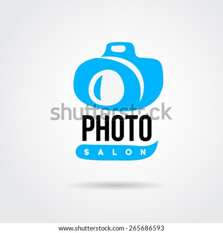 Camera icon design silhouette in vector format - stock vector