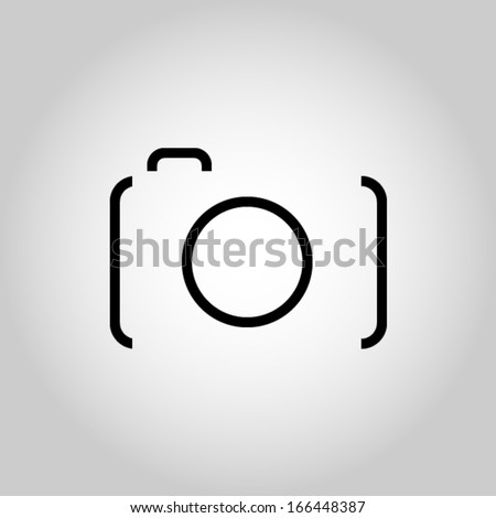 Camera Icon Illustration - stock vector