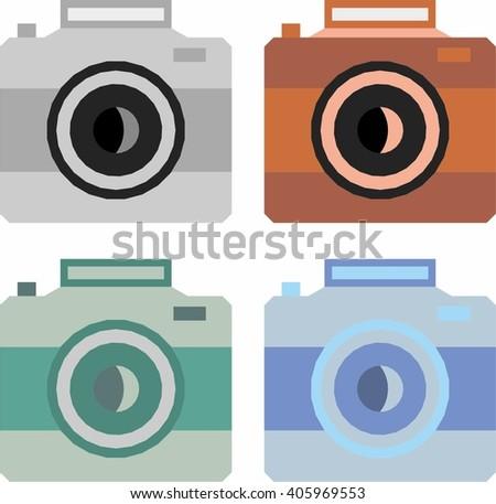 Camera icon vector image - stock vector