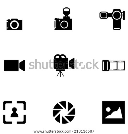 Camera_Icons_Set - stock vector