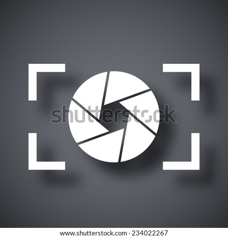 Camera lens icon, stock vector - stock vector