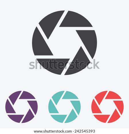 Camera shutter icon - stock vector
