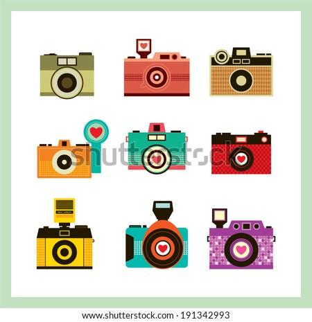 camera vector - stock vector