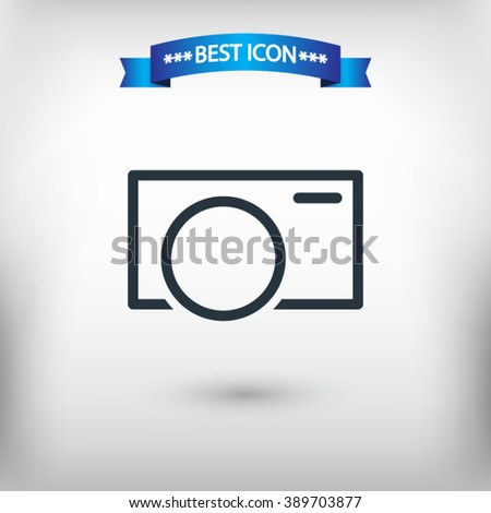 Camera vector eps 10 and jpg. Flat style Camera icon for web sites. Camera icon on a gray background.  - stock vector