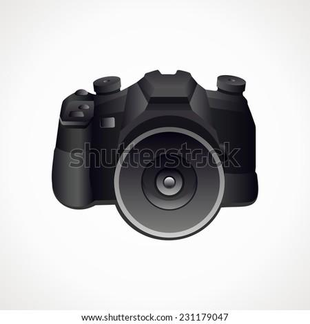 Camera. Vector format. Photography. - stock vector