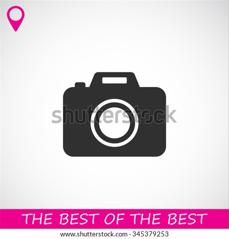 camera vector icon - stock vector